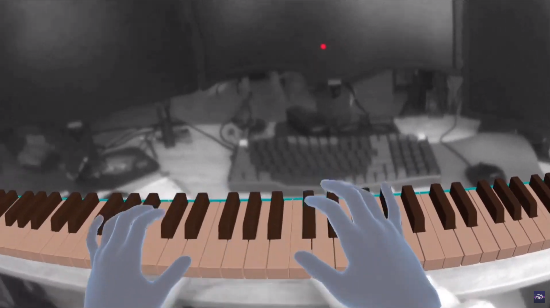Piano simulation in Virtual Reality with Passthrough API