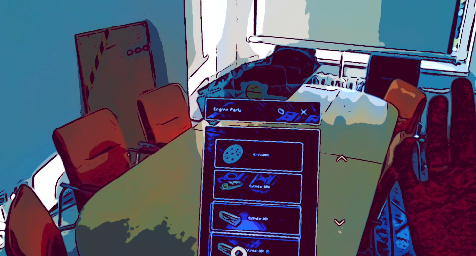 Scheme of the engine with the HoloLens 2